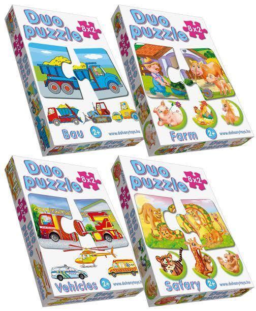 DOHÁNY 638 Baby puzzle Duo 8 kép  24 hó kortól