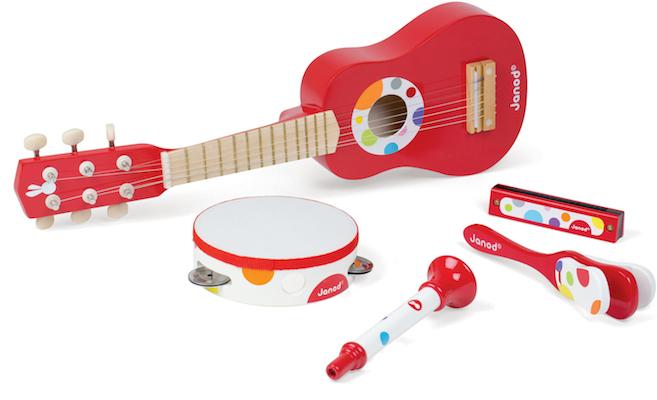 Sada dřevěných hudebních nástrojů Janod