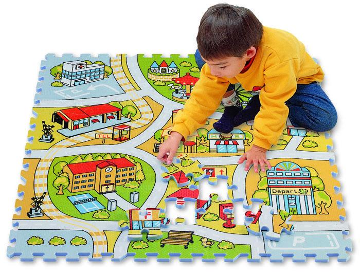 Pěnové puzzle Road Map – Mapa cest Lee 81 dílů 92*92*1,4 cm od 0 měsíců