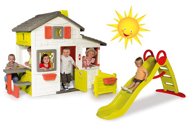 Dětský domeček a skluzavka