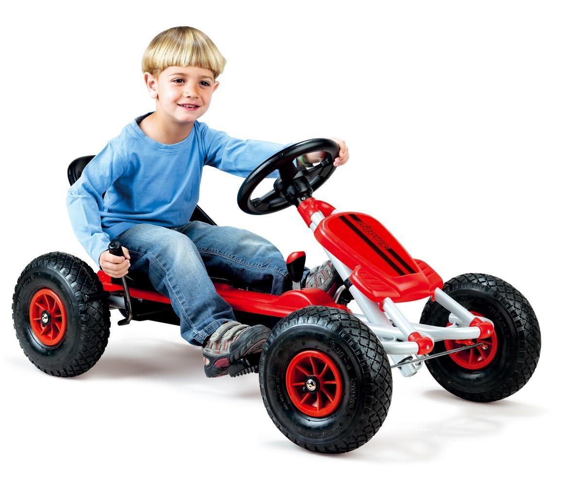Štvorkolka Go Kart Maxi Gonflables Smoby s nafukovacími kolesami