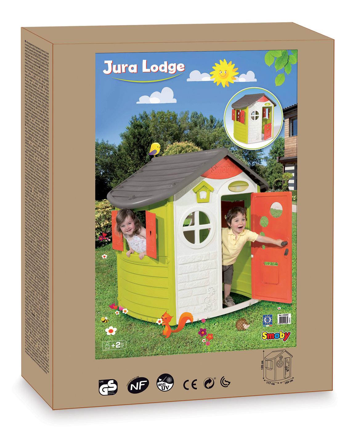 smoby dom ek jura lodge s dverami a okenicami 310263 smoby hra ky. Black Bedroom Furniture Sets. Home Design Ideas