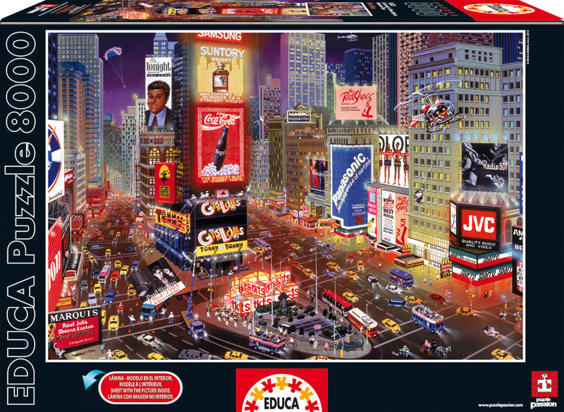 Puzzle Genuine Times Square New York Educa 8000 dílů od 15 let