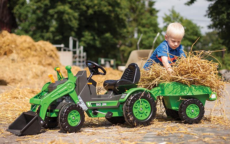 April zahrada traktor