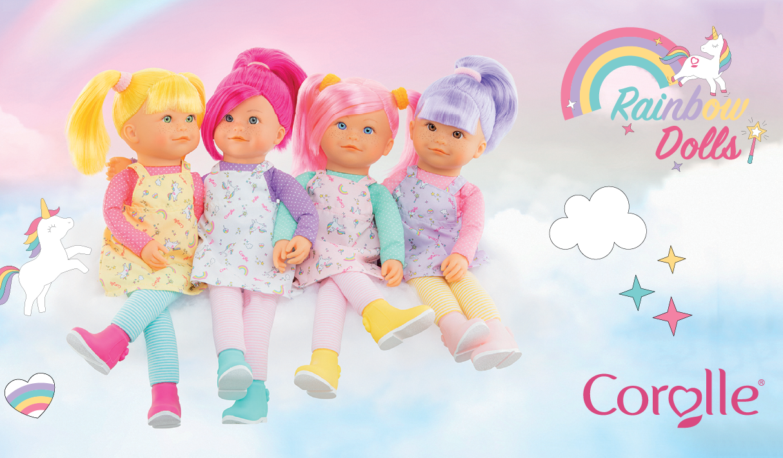 Corolle Rainbow dolls