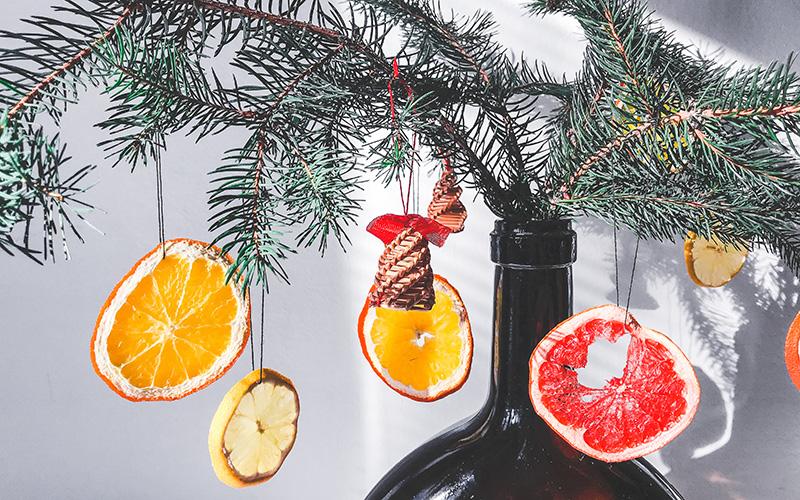 Božične dekoracije citrusi