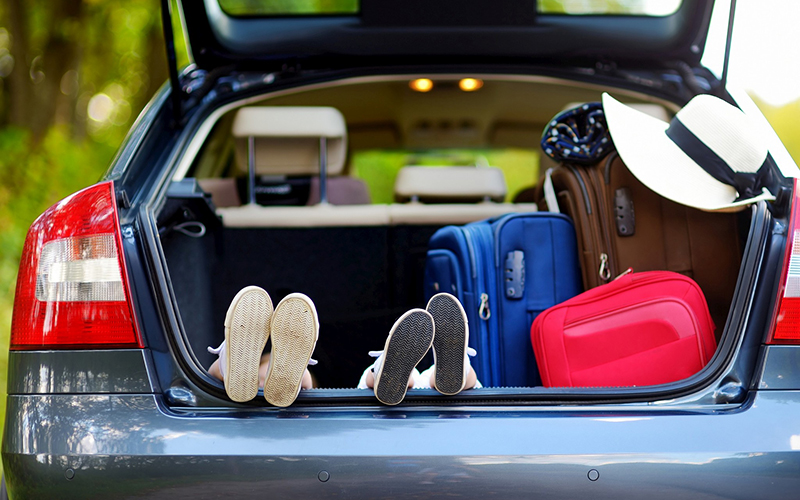 Cestovanie autom kufor