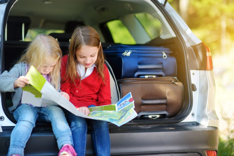 Deti a dovolenka autom