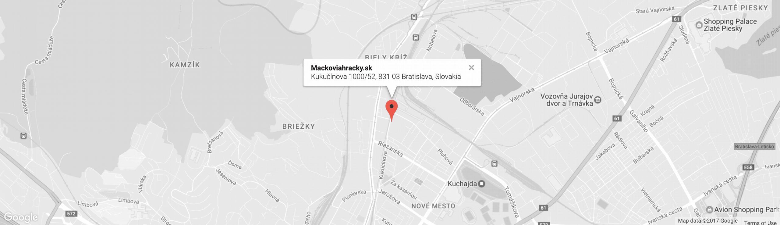Mapa a kontakt
