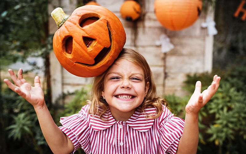 Halloween kislány
