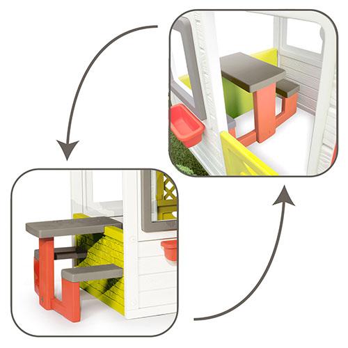 Házikó konfigurátor asztal
