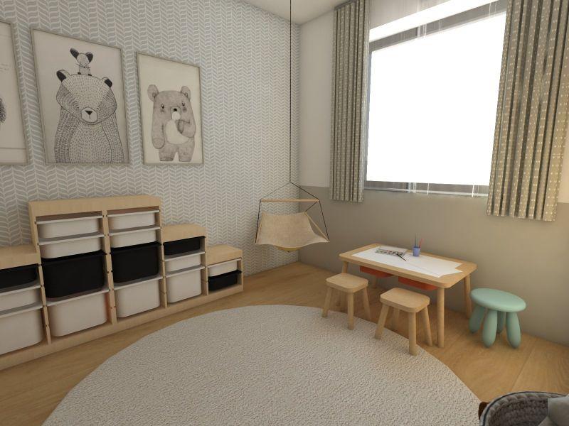 Hojdačka v detskej izbe