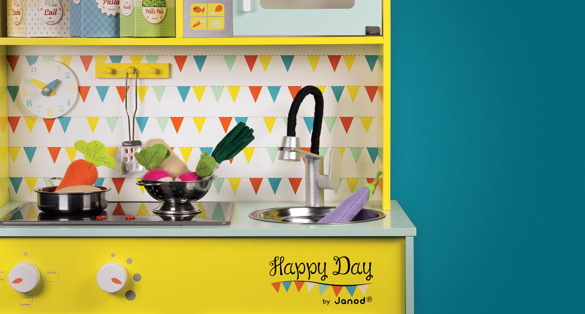 Janod elektronick d ev n kuchy ka happy day 06564 zeleno for Cuisine happy day janod