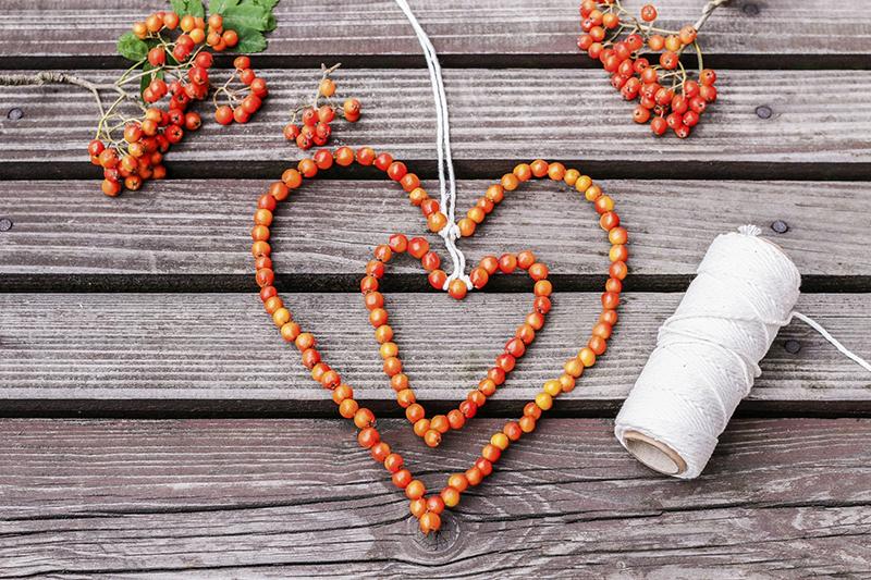 Jesen dekoracie srdce