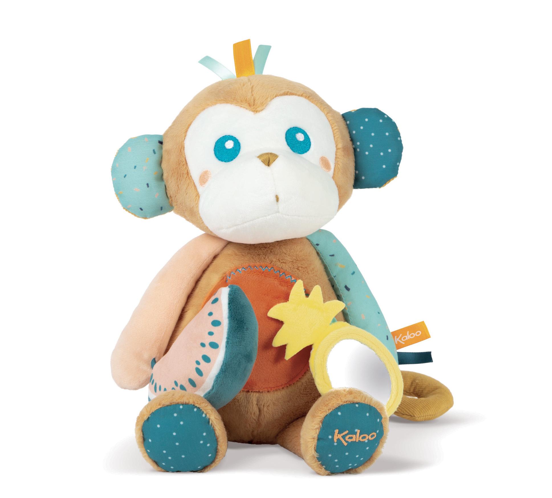 Aktívna plyšová Opica Sam Kaloo pre najmenších od 0 mes