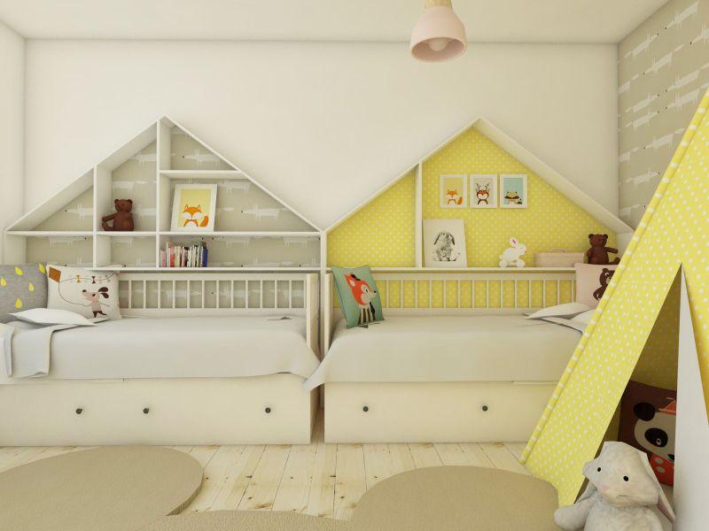 Detská posteľ v tvare domčeka