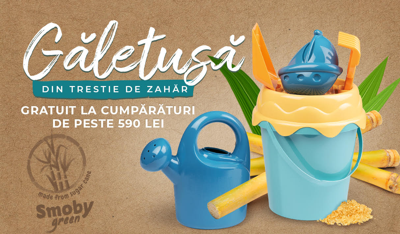 Găletușă din trestie de zahăr gratuit la cumpărături