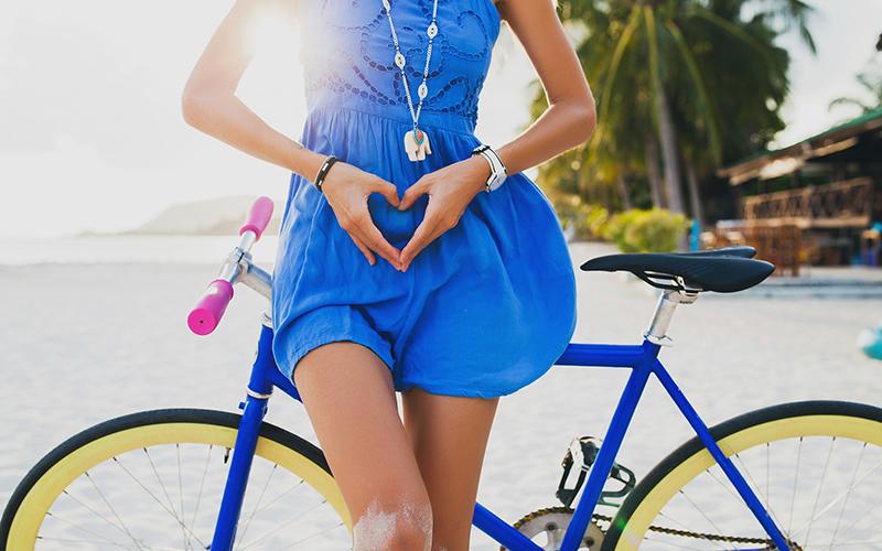 Tehotenstvo bicykel