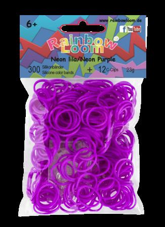 Rainbow Loom originálne gumičky 300 kusov neónovofialové od 6 rokov