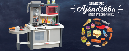 Minden játékkonyha mellé Écoiffier élelmiszer szett ajándékba!