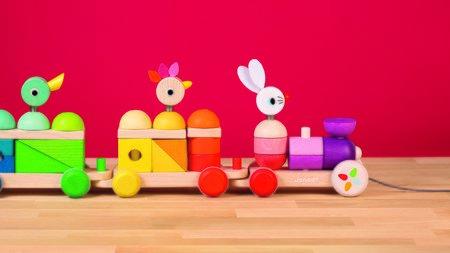 Dřevěné hračky na tahání