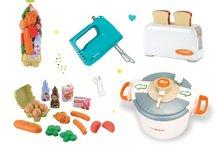 SMOBY 24545-6 toaster Mini Tefal+ručný mixér Tefal+tlakový hrniec Tefal+potraviny v sieťke
