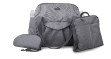 Prebaľovacia taška Voyage 4v1 toTs-smarTrike s vnútornou taškou a termoobalom na fľašu šedá