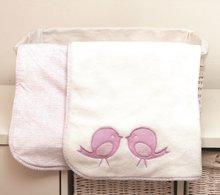 Obojstranná deka pre najmenších Classic toTs-smarTrike vtáčiky 100% jersey bavlna ružová