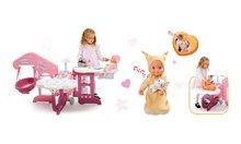 SMOBY 24018-4 set opatrovateľské centrum pre bábiku a bábika Minikiss do postieľky od 18 mesiacov
