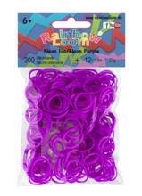Rainbow Loom originalne gumice 300 kosov neon vijolične od 6 leta