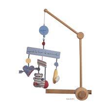 KALOO 960075 hudobný kolotoč nad postieľku Blue Denim-Musical Mobile pre najmenšie deti