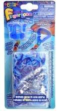 Finger Loom Rainbow Loom modrý 600 kusov