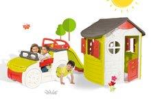 Smoby 310263-6 készlet házikó Jura Lodge két ajtóval és mászóka Autó csúszdával 2 éves kortól