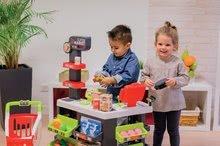 Trgovine za otroke - Trgovina z vozičkom in živili Supermarket Smoby z elektronsko blagajno in skenerjem ter tehtnico z 42 dodatki_12