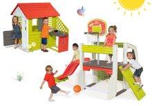 Set domček Pretty Nature Smoby s letnou kuchynkou a hracie centrum Fun Center od 2 rokov